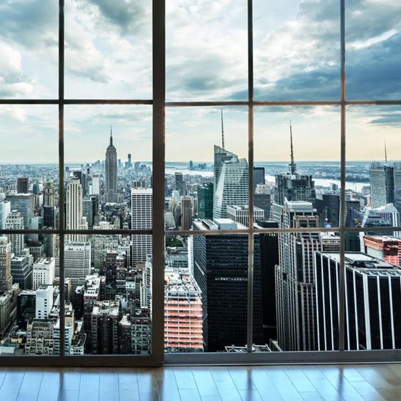 custom photo wallpaper new york city building window landscape