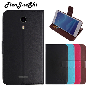 TienJueShi Flip Book Design Protect Leather Cover Shell Wallet Etui Skin Case For Nuu a1 plus 4 inch(China)