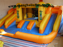 Colorful entertainment indoor playground equipment , kids soft indoor playground inflatable bounce house and slide combo