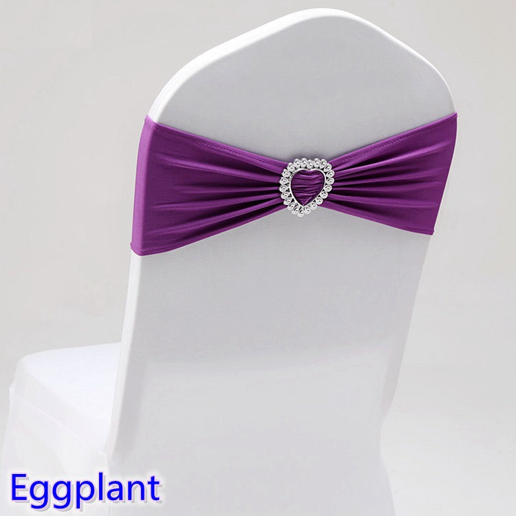 Strange Us 0 4 Eggplant Colour Spandex Sash Wedding Lycra Chair Band Stretch For Chair Covers Decoration Party Dinner Banquet Chair Sash In Sashes From Home Machost Co Dining Chair Design Ideas Machostcouk