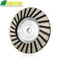 Shdiatool 1pc diâmetro 100mm m14 rosca de alumínio baseado roda copo moagem 4 polegada diamante disco moagem menor ruído
