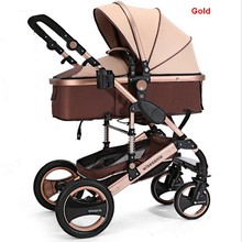 2016 new collapsible baby stroller, 0--36 months stroller 8 color choices Inflatable Natural Rubber Wheels Four Wheel Free ship