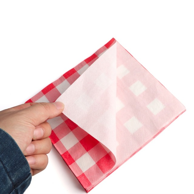 Disposable Plaid Table Napkins