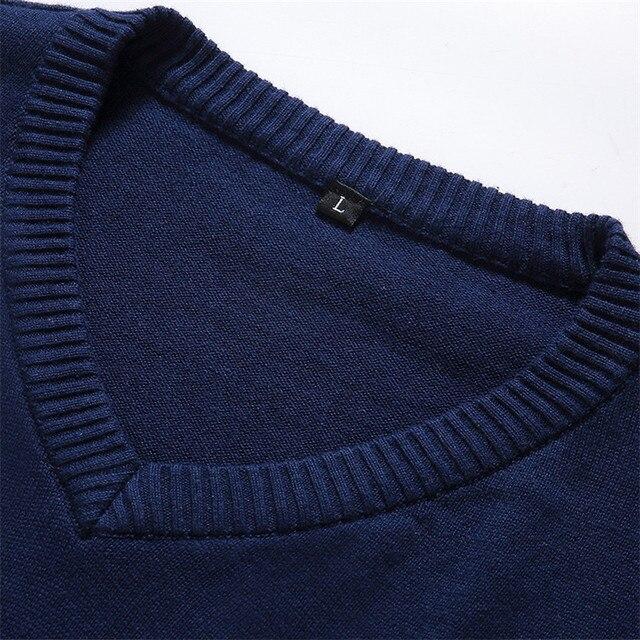 Autumn Fashion Casual Men Sweaters Pullover Slim Fit  4