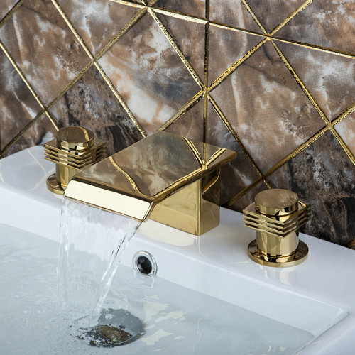 Deck Mounted New Golden Waterfall Tub Filler Bathroom Bathtub Faucets K1Z Shower Sink Brass Faucet,Mixers &Taps шина tdm sq0801 0017
