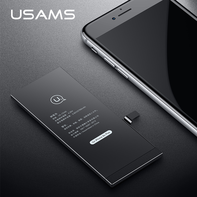 For iPhone 6S Plus Battery USAMS Original For iPhone6S Plus Mobile Phone Lithium Battery Power Capacity 2750mAh Bank With Tools