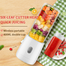 400ml portable mini 6 Blades Blender juicer Electric Mixer Mini USB Rechargeable Blenders Fruit Extractor Food Maker Smoothie