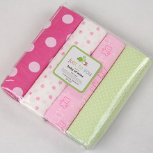 4pcs Baby Blankets Newborn 100% Cotton Flannel Blanket Girl Receiving Summer Crib Bedding Gift Set 76*76cm