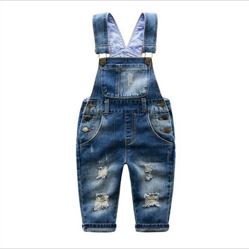 2 3 4 5 6 7 8 Years Boys Girls Overalls 2017 New Fashion Kids Denim Jumpsuits Broken Hole Summer Autumn Children Jeans Pants the new spring and summer 2016 korean fashion jeans female hole loose jeans page 6