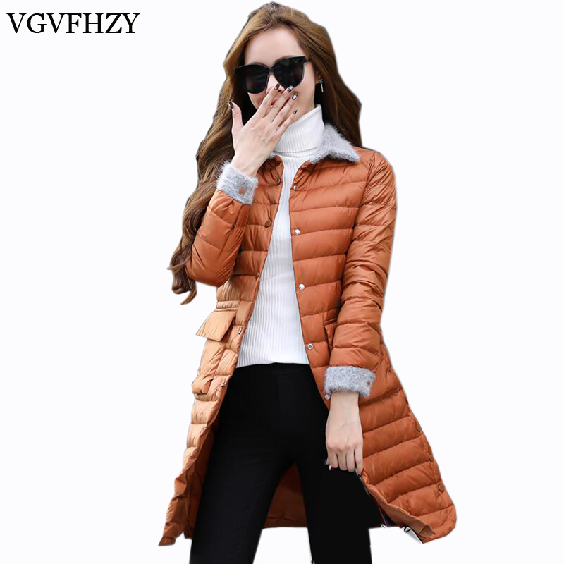 Woman Coat 90% White Duck Down Long Jacket Female Winter Jacket Women Warm White Duck Down Jackets Casual Plus size Slim Coat 06