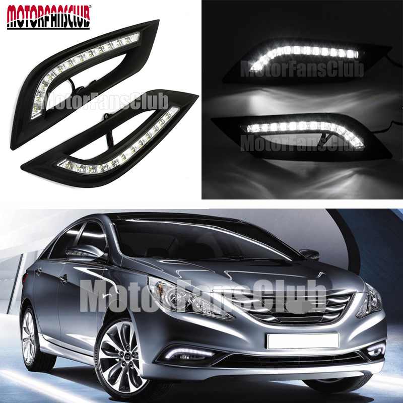Waterproof 6000K~6700K For Hyundai Sonata I45 2011 2012 2013 2014 LED Daytime Running Light Fog Lamp nokia 6700 classic illuvial