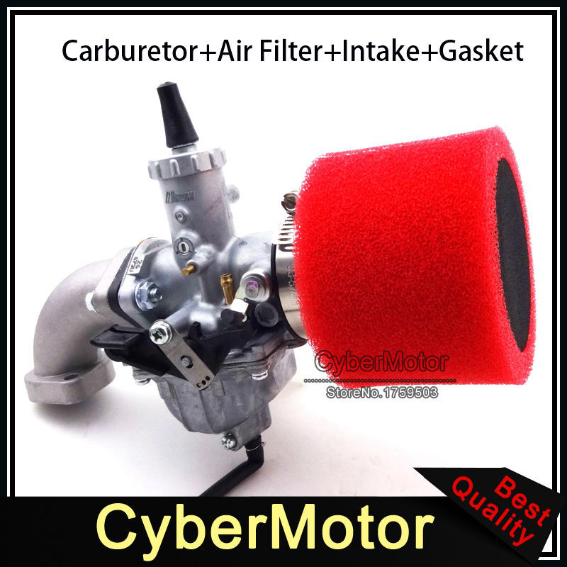 30mm Mikuni Carb VM26 Carburetor 45mm Air Filter Mainfold Intake Pipe For YX 140cc 150cc 160cc Engine Pit Dirt Bike Motocross