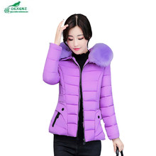 Autumn new women feather cotton Outerwear thickening large size short section winter jacket coat women cotton clothing OKXGNZ