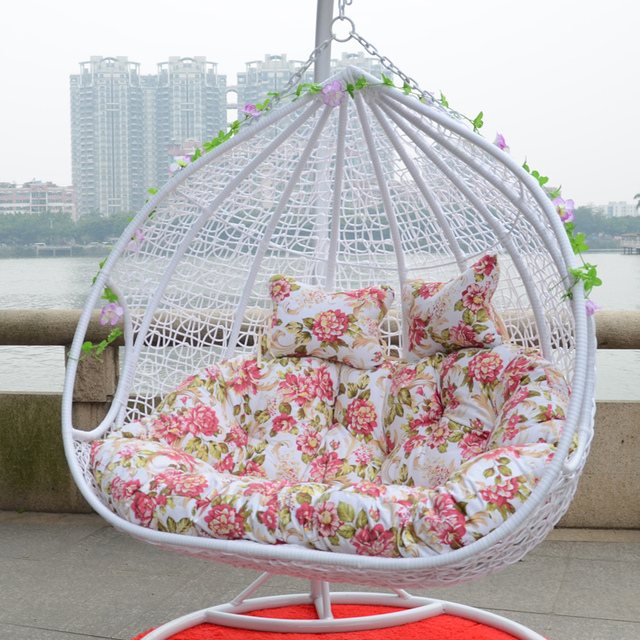 Two Bits Outdoor Double Basket Swing Hanging Chair Indoor And Furniture,  Rocking