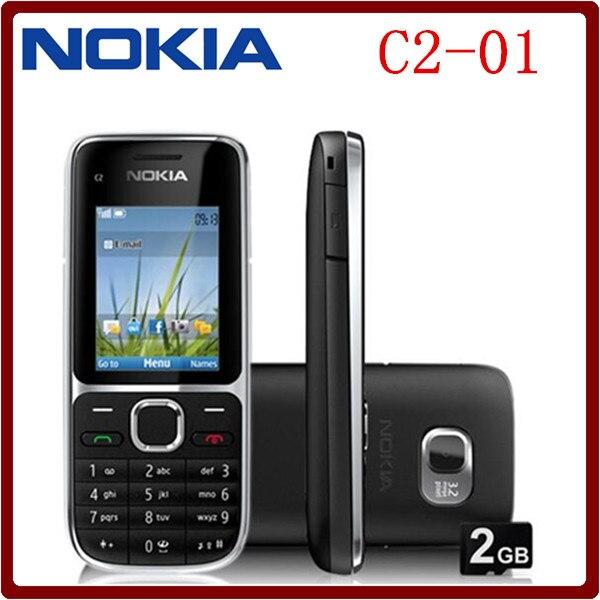 Цена за С2 01 Оригинальный Разблокирована Nokia C2 01 1020 mAh 3.15MP 3 Г Поддержка Русская Клавиатура Мобильного Телефона Бесплатная Доставка