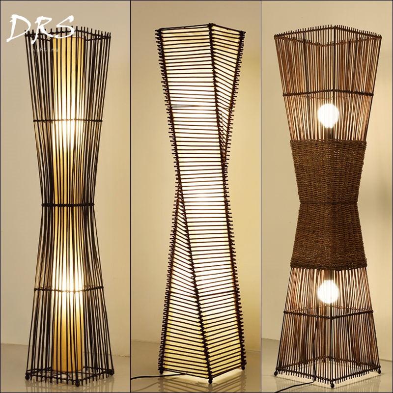Wood Floor Lamp Southeast Asian