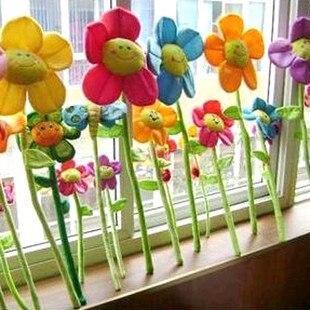 Ткань Искусство Подсолнух Плюшевые игрушки потраченные подсолнухи потраченные занавес Пряжка 8 цветов на выбор 56 шт/партия