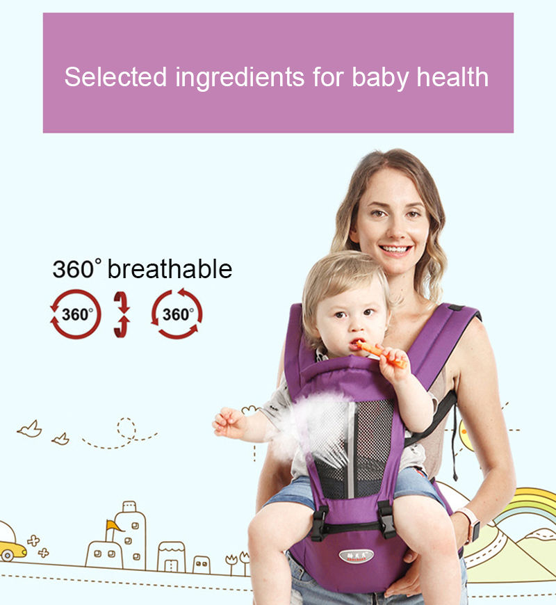 Newborn Baby Carrier Kangaroo Toddler Sling Wrap Portable Infant Hipseat Baby Care Waist Stool Adjustable Hip Seat 0-36 Months (19)