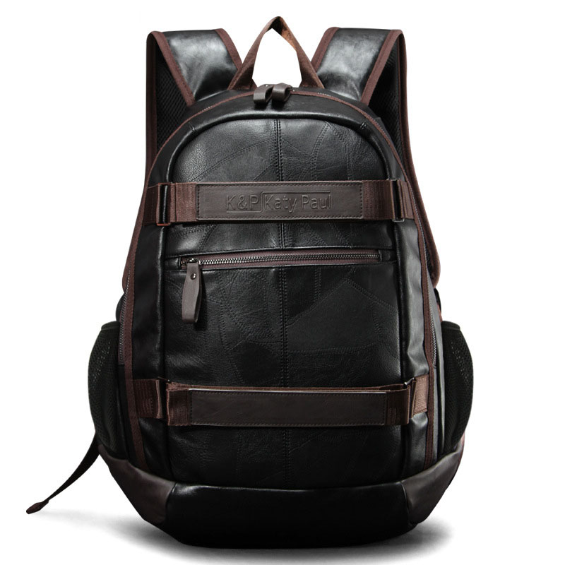 New Men's Backpack Men PU Leather Backpack For Teenagers Casual Men Backpacks Large Capacity Laptop Backpack Luxury Travel Bags