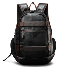 New Men's Backpack Men PU Leather Backpack For Teenagers Cas