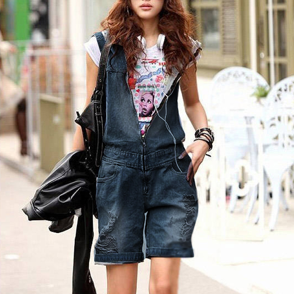 Womail Women Shorts Summer Casual Loose Denim Shorts Hooded Trousers Overalls Harem Short Solid Casual Dropship J21