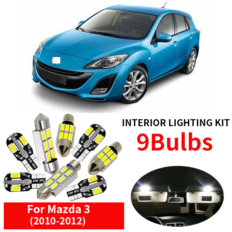 11 Pcs White LED Lights Interior for T10 /& 31mm Map Dome License Plate Lamp M3M6