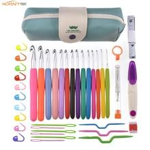 KOKNIT 46 uds paquete conjunto de ganchos de ganchillo tamaño grande 8,0 9,0 10,0mm mango suave agujas de ganchillo hilo de tejer conjunto de agujas de tejer con bolsa