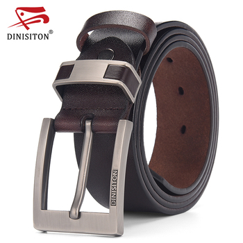 DINISITON Cow Genuine Leather Belts For men Luxury Men's Belt Leather Belt Alloy Buckle Casual Male Vintage Strap ceinture homme