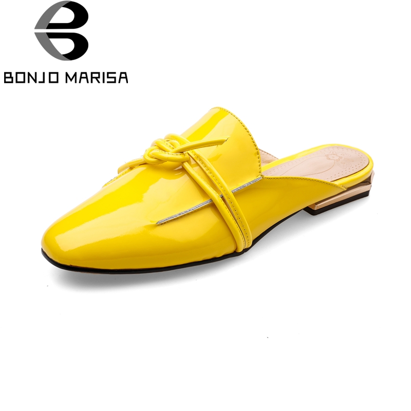 BONJOMARISA 2018 Large Size 34-42 Genuine Leather Slip On Spring Summer Shoes Women Flats Casual Cow Leather Woman Flats Shoes ribetrini summer large size 34 40 cow genuine leather woman shoes mix color leisure flats women shoes sneakers