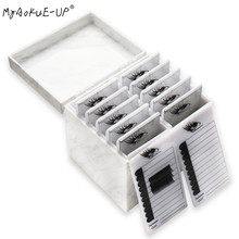 Caja de almacenamiento de pestañas de 5/10 capas, 4 colores, organizador de maquillaje, paleta de pegamento para pestañas, soporte para pestañas, utensilio de extensión de pestañas