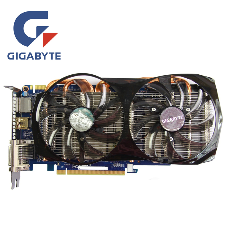 Gigabyte GTX650 2 ГБ видео карты 192bit GDDR5 gv-n65tboc-2gd Видеокарты для NVIDIA GeForce GTX 650 ti Boost VGA, HDMI, dvi карты