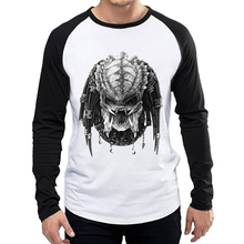 Mens AVP T Shirt White Color Fashion Movie Black Sleeve Alien vs Predator T-shirt Tops Tees tshirt For 2018