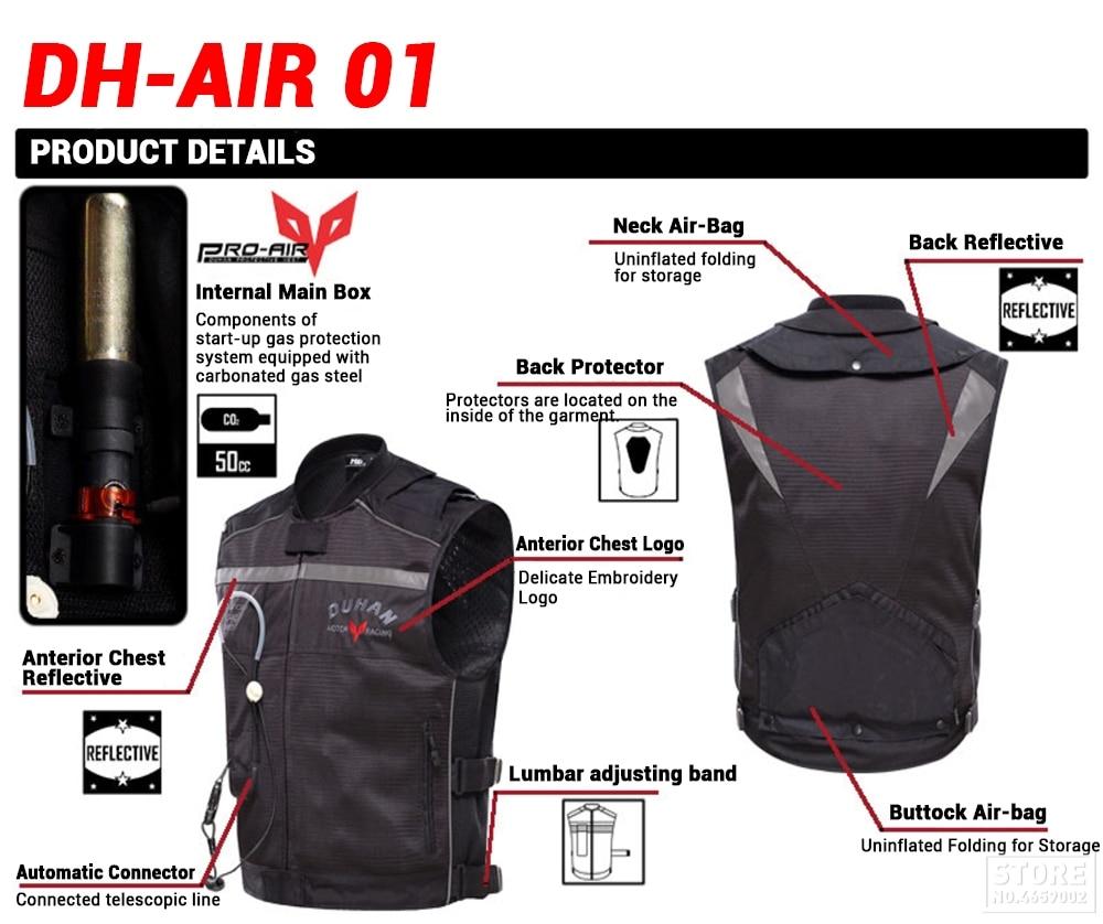 reflexiva colete profissional avançado sistema de airbag engrenagem protetora #