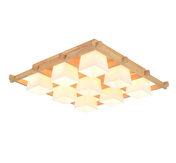 Modern LED Ceiling Lights Wooden Square Ceiling Lamp With Dimming Remote For Living Room Dining Light Wood Bedroom LampsModern LED Ceiling Lights Wooden Square Ceiling Lamp With Dimming Remote For Living Room Dining Light Wood Bedroom Lamps