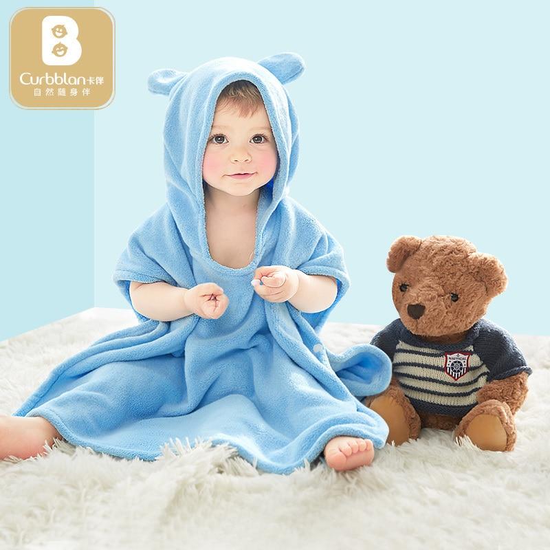 curbblan baby hooded bathrobe bath towel baby fleece receiving blanket neonatal hold to be Children kids infant bathing