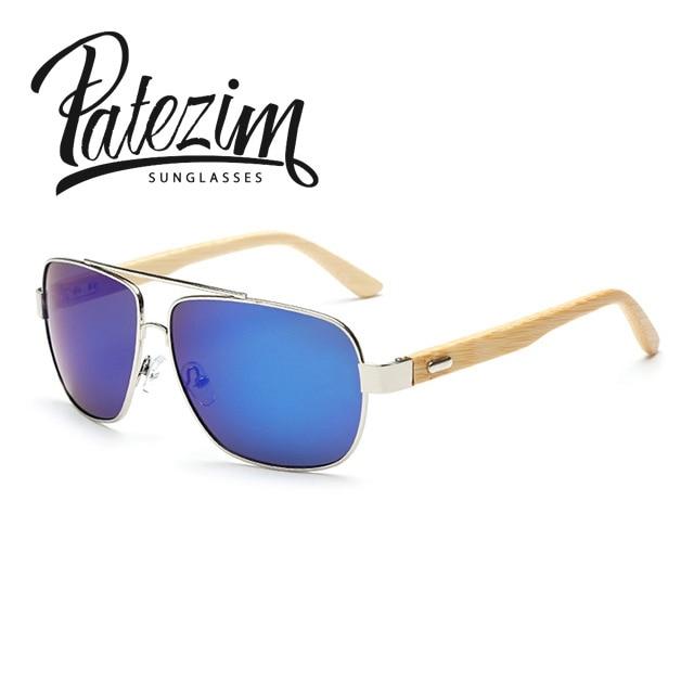 Real Bamboo Classic Rectangle Sunglasses Men Wood Foot Fashion Mens Sunglasses UV400 oculos de sol Women