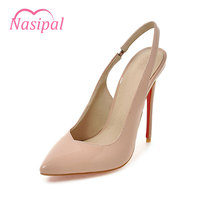 Nasipal New Pumps High Quality Sexy Pointed Toe Shoes Women Super High Heel Fashion Women S