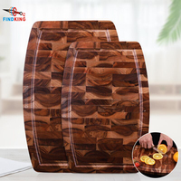 Findking 2 size Acacia Wood Cutting Board With Solid Sturdy Real Wood Without Glue Stock Plate Kitchen Chopping Board