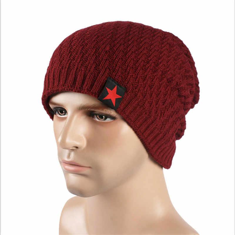 Модные зимние шляпы для мужчин шапочки шапки s кардиган Толстая наружная теплая шляпа мужчины Skullies Кепка в стиле хип-хоп колпачок * casquette homme