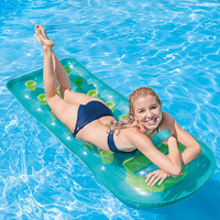 Inflatable Donut Swimming Ring for Pool Float Mattress Swimming Pool Thickened PVC Summer Floating Ring Seat Toys