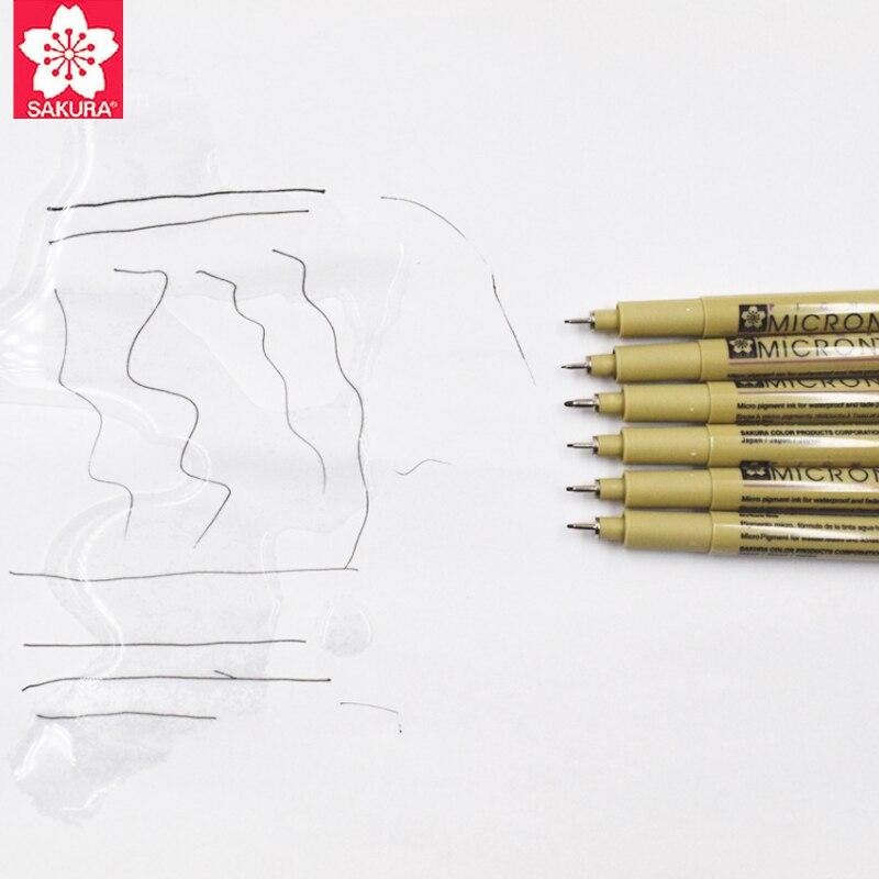 Set of 6 Pigma Sakura Micron Pens 1