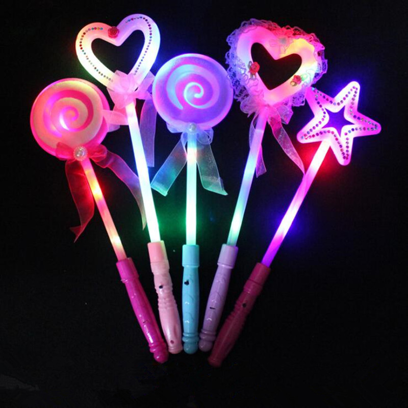 Novelty Love Heart Led Glowing Flashing Sticks Children Blinking Fairy Wands Wedding Birthday Party Favor Gift Halloween Costume Props Costumes & Accessories