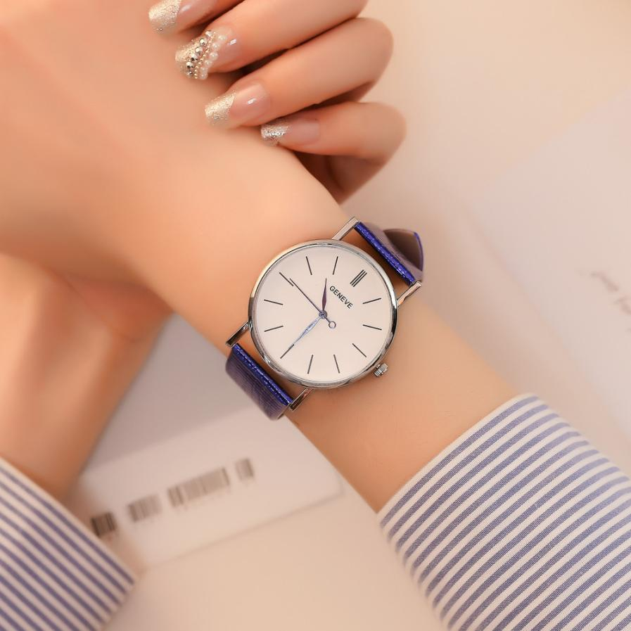 Mirrored Fashionable High Hardness Glass Ladies Wristwatch Analog Alloy Unisex Gift Quartz Women's Quartz Watch #D