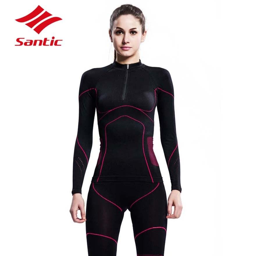 Santic cyclisme Jersey 2018 femmes vélo de route vélo vêtements hiver thermique chaud sous-vêtements collants en plein air Ropa Ciclismo