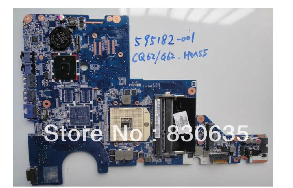 595182-001 lap  CQ62 G62 HM55 full test lap 3d-printer motherboard board 610161 001 lap motherboard cq42 g62 cq62 g72 motherboard full test lap case