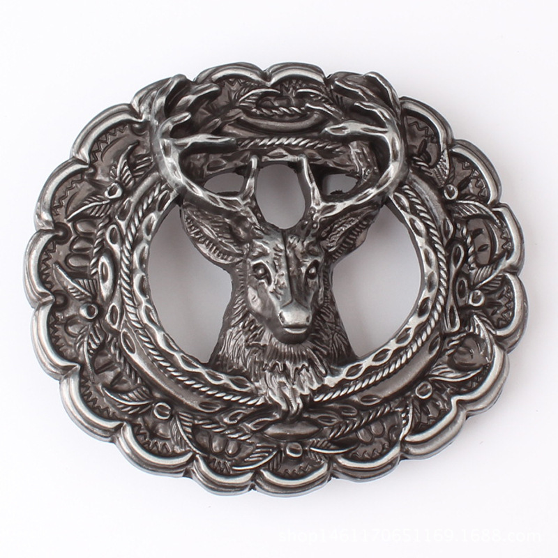 Animal Motifs Belt Buckle The Head Of A Deer