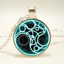 1pcs/lot Doctor Who Logo Pendant Necklace Hot Sale Handmade Doctor Who Time Lord Seal Pendant Time Lord Gallifreyan Necklace HZ1