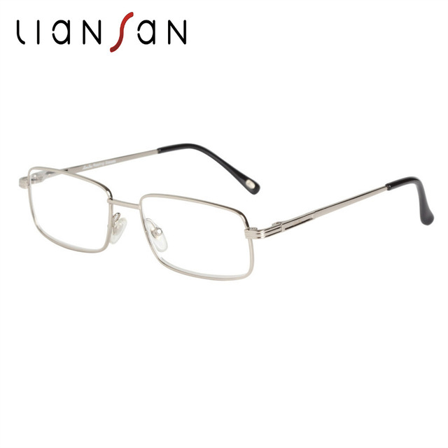 d815acd284 LianSan Vintage Eyewear Square Bifocal Reading Glasses Women Men Unisex  Titanium Brand Designer Hyperopia Lightweight +1.5 L3650