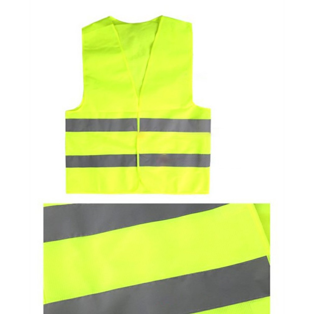 Yellow Reflective High Visibility Safety Vest Men & Women Work Cycling Runner Surveyor Volunteer Crossing Guard Wear-in High Visibility Jackets from Automobiles & Motorcycles