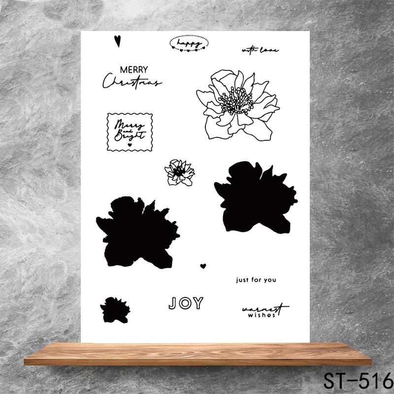 Thoughts of flowers Transparent Clear Stamps DIY Scrapbooking Album Card Making Decoration Embossing Stencil
